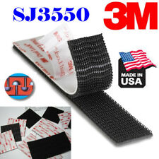 "3M SJ3550 2Pieces (Pair) 1"" x 3""inch Dual Lock Tape Black VHB Adhesive Fastener"