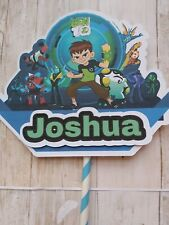 Ben 10 Cake Banner topper Personalized Birthday party cake Decorations