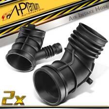 2pcs Throttle Body Air Intake Boot Hose for Bmw E46 323i 325i 328i E36 Z3 97-06