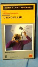KODAK VIDEO PROGRAMS: Advanced Photography ~Using Flash~   Used BETA Tape