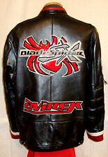 "AVIREX ""BLACK SPIDER""  NEW YORK LEATHER Jacket/Coat**2XL**$699**EXCELLENT!"