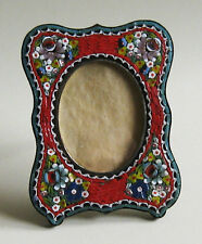 Picture Frame Handcrafted Italian Micro Mosaic Red Antique