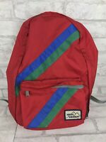 Vintage High Sierra Red Striped Lightweight Backpack 80s Nylon Retro Minimalist