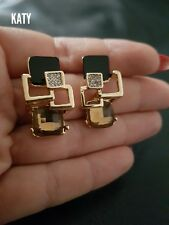 Vintage Style Gold Diamante Cubic Crystal Earrings Wedding Bridal Party Gift