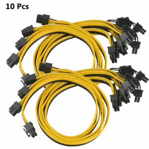 10 Pcs PCIE 6 pin male to PCI-E 8 pin Male GPU Power Cable Only For Breakout US