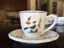 Gien Oiseaux de Paradis tea cup and saucer - Vintage