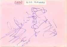 Queens Park Rangers + Nottingham Forest signed autograph book page 1984 football