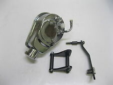 Small Block Chevy Bolt -On Saginaw Style Chrome Power Steering Pump and Bracket