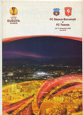 Orig.PRG   Europa League  2009/10  STEAUA BUCAREST - TWENTE ENSCHEDE  !!  SELTEN