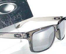 NEW* Oakley HOLBROOK Grey Smoke Clear w Black Iridium Sunglass  9102-24