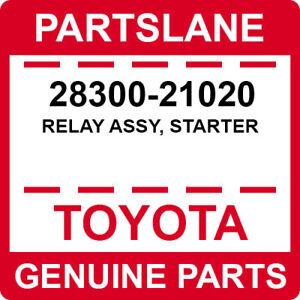 28300-21020 Toyota OEM Genuine RELAY ASSY, STARTER