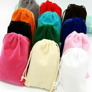 New Storage Bags 50 Pcs/lot Jewelry Bag Packaging Wedding Velvet Pouch Gift Bags