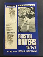 Bristol Rovers v Sunderland  - League Cup 2nd Round - September 7th 1971