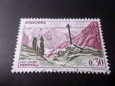 ANDORRE FRANCAISE, 1961/71 timbre 159 CROIX GOTHIQUE, oblitéré, VF USED STAMP