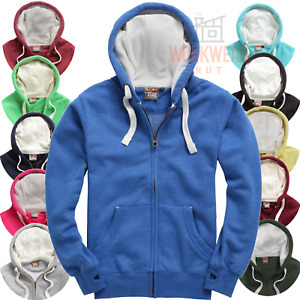 Premium Zipped Hoodie with Thumb Holes, Soft Feel, MALE SIZED UNISEX 21 Colours
