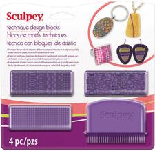 Sculpey Technique Design Blocks Polymer Clay Polyform 4 Impress Patterns