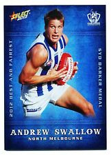2013 Select Champions Andrew Swallow North Melbourne Best and Fairest BF12