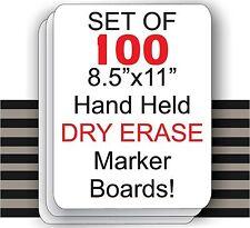 "Set Of 100  - 8.5"" X 11"" Student Laptop Dry Erase Marker Boards ( SET OF 100 )"