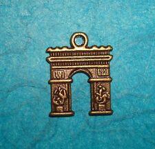 Pendant Arc de Triomphe Charm Bronze Arc de Triomphe Paris Landmark French Charm