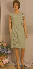 New Calvin Klein Heather Gray Career Dress with Graceful Ruffles, $128 Retail 12