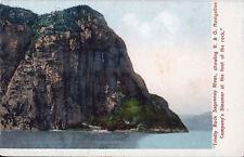 Postcard Quebec Saguenay River Trinity Rock R&O Steamer ca 1902-06 Unused