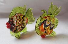 Couple de Mini Poissons en verre de Murano