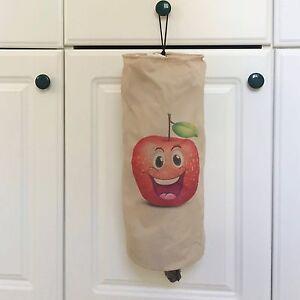"Red Apple PLASTIC GROCERY BAG DISPENSER HOLDER STORAGE POLYESTER 15"" x 6"" Open"