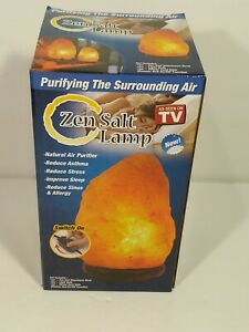 Zen Salt Lamp Himalayan Crystal Air Purifier 6-7 Lbs As Seen on TV! Amazing!!