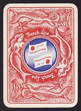 1 Single VINTAGE Playing/Swap Card WIDE C.GLE FRENCH LINE MERMAID FISH Shipping
