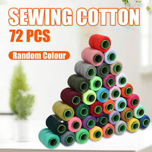 72 REELS ASSORTED COLOURS SEWING THREAD SET ALL PURPOSE SEWING MACHINE STITCHING