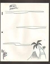 "Flintstones Animation Art - Pebbles ""Rock Rockstone"" Morning Sky Bg 3"