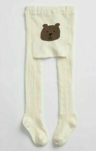 GAP Girls Bear Graphic Cable Knit White Tights 4-5 years, Brand new