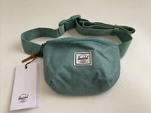 New Herschel Supply Fanny Pack Sport Active Travel Bag Sack Designer Sea Green