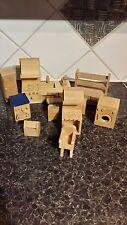 In legno mobili casa delle bambole-ELC-cucina - 12 PEZZI-VEDI FOTO-OTTIMO