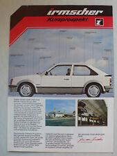 Prospekt Opel irmscher visión general-muestra Kadett D, 9.1981, 4 páginas