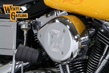 Chrome Wyatt Gatling Air Cleaner Assembly For Harley-Davidson