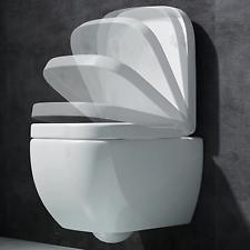 Hänge-WC Wandhängend WC Sitz Softclose Silent Close für Vorwandelement Aachen101
