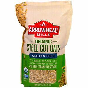 Arrowhead Mills, Organic Steel Cut Oats, Gluten Free, 1.5 lbs (680 g)