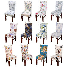 N91 Removable Elastic Stretch Slipcovers Short Dining Room Chair Seat Cover Deco