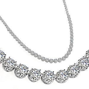 Silver Crystal Zenith Necklace by Philip Jones