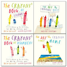 Drew Daywalt Crayons 4 Books Collection Pack Set Came Home,Numbers,Colours,Quit