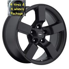 "4) 20"" Ford Lightning Tires Wheels Rims Package Flat Black Set Fit 97 - 04 F150"