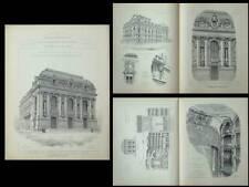 THEATRE DE CALAIS - PLANCHES ARCHITECTURE 1905 - MALGRAS DELMAS
