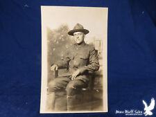 RPPC US Army Soldier Campaign Hat Uniform Studio Portrait