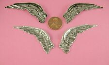 ANT SILVER PLATED BRASS VINTAGE DESIGN FALLEN ANGEL WINGS PAIR L/R - 2 PC(s)