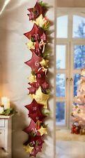 XXL Adventskalender Sterne in rot goldfarben NEU zum selberbefüllen 2 meter lang