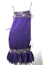 Exklusives Oscar Alvarez Cocktail Kleid Haute Couture S Lila 36 38 Perlen Stick