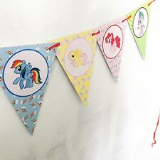 1x My Little Pony Banner Bunting Flag. Party Supplies Room Deco Lolly Loot Bag