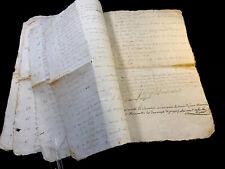 ANTIQUE PAPER MANUSCRIPT 1791   16 pages