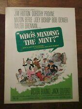 Who`s Minding The Mint ?-   Original 30 x 40   Movie Poster - Hutton- Provine
